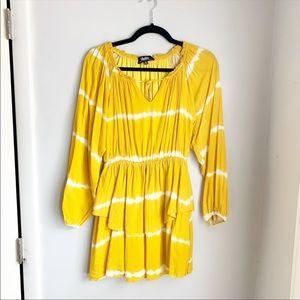 Lulu's Yellow Tie Dye Dress